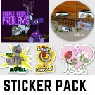 Funny Stickers Pack #2 - FIVE Sticker Pack