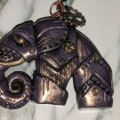 Steampunk Elephunk Pendant (Purple & Gold) [0009]