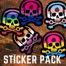 D.J. Skeleton PRIDE Pack - FIVE Sticker Pack