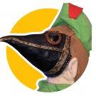 Peter Pandemic - ABoMiNaTioN #14 (Peter Pan Plague Doctor Custom Plush)  w/ Snow Globe Vaccine