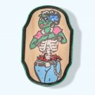 "Zombie Zara Wooden plaque - 4.5"" Tall Halloween decoration"
