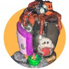 Trick or Treat Snow Globe -  Handmade Spooky Cute GHOST Trick 'r Treater