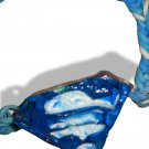 Blue & White Superman Symbol Paint Palette Pendant Bracelet