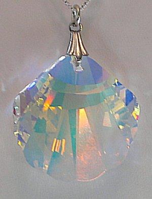 Swarovski AB 28mm Seashell Necklace