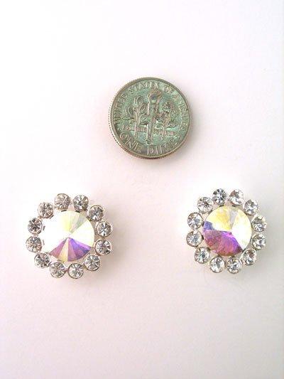 Swarovski Crystal AB Round Earrings