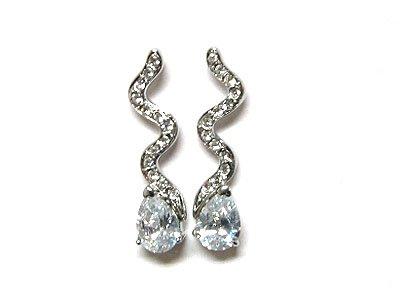 Designer Style Cubic Zirconia Earrings