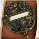 Personally Yours Satin Brass Coat of Arms Door Knocker 1967