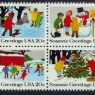 #2027-2030 MNH Seasons Greetings block Mystic $6.25