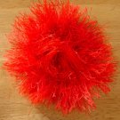 Fancy Red Powder Puff Hair ponytail holder NEW Washable