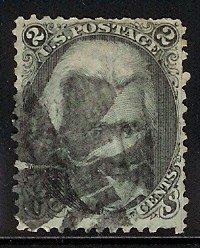 73 Andrew Jackson 1862 fancy cancel SCV $70 US classic oldie