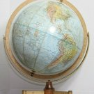 "VINTAGE 12"" REPLOGLE LAND AND SEA GLOBE MID CENTURY MODERN BASE RELIEF"