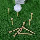50/100Pcs Golf Tees Bamboo 83mm 70mm Unbreakable Tee Golf Training Swing