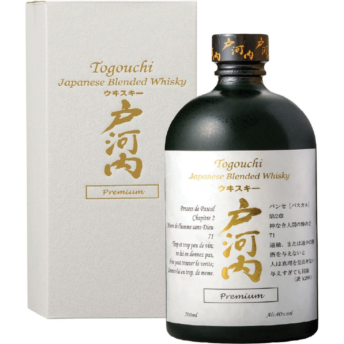 Blended whiskey 70 cl The 70 cl bottle + the case TOGOUCHI