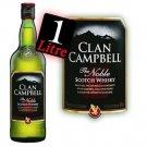 Whiskey CLAN CAMPBELL 40% V. - the 1 liter bottle.