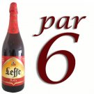 Leffe Ruby beer 6x75 cl