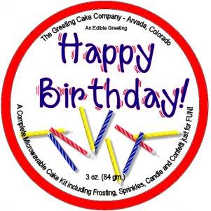 Happy Birthday Cake - White