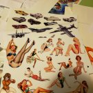 45 individual Spy Plane Muscle Car Hot Pin Up Beauty's Vinyl Sticker Fun Decals