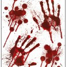 Halloween Bloody Blood Hand Print Stickers Scary Zombie Party Prop Spooky Decor