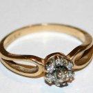 2.345 Grams 14K Yellow Gold Ring Stamped w/  Diamond Diamonds Scrap or Not