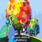 Painting of the Trees Cross Stitch Pattern Vintage Magazine Cover
