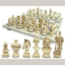 Greek Roman Classical Chess Set and Board
