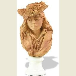 Rose Beuret in Straw Hat Portrait Statue by Rodin