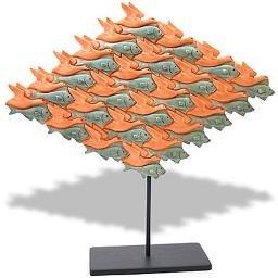 Fish Bird Tessellation by Escher