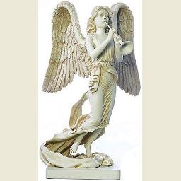 Archangel Gabriel with Trumpet Statue, Large