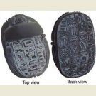 Egyptian Scarab with Hieroglyphs, Black Finish