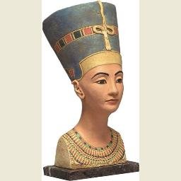 Nefertiti Egyptian Queen Bust, Gallery Quality, Color