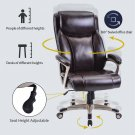 Champagne PULeather Swivel Computer Desk Task Chair High Back Office Home Gaming