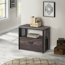 Lateral File Cabinet 1 Drawer With Shelf A4 Legal Letter Size Filing Organizer