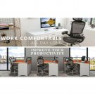 Black Mesh Chair Swivel Lumbar Back Support Adjustable Ergonomic Task Chairs