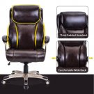 Champagne PULeather Swivel Computer Chair High Back Office Supplies Home Gaming