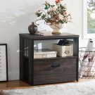 Lateral File Cabinet1 Drawer With Shelf A4 Legal Letter Size Filing Storage