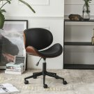Adjustable Height  Rolling Office Chair PU Leather Dining Bar Salon Swivel Stool