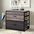 Unit Vertical Filing Cabinet w/2 Drawers Home Office Filing Drawer MDF Steel