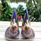 Vintage salt&pepper shaker dining set antique porcelain thai benjarong