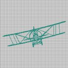 Airplane silhouette cross stitch pattern in pdf