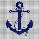 Anchor silhouette cross stitch pattern in pdf