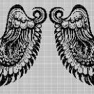 Angel wings 2 silhouette cross stitch pattern in pdf