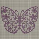 Art Butterfly silhouette cross stitch pattern in pdf