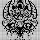 Art lotus silhouette cross stitch pattern in pdf