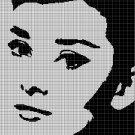 Audrey Hepburn silhouette cross stitch pattern in pdf