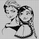 Anna and Elza silhouette cross stitch pattern in pdf
