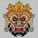 Barong mask DMC cross stitch pattern in pdf DMC