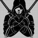 NINJA DMC cross stitch pattern in pdf DMC