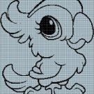 Baby parrott silhouette cross stitch pattern in pdf