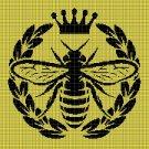 Bee silhouette cross stitch pattern in pdf