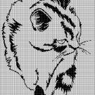 Cat 2 silhouette cross stitch pattern in pdf
